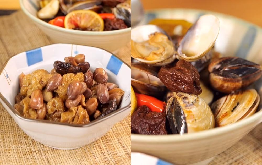 配粥下飯必備醬菜自己做最安心!醃漬蛤蜊、香菇花生麵筋