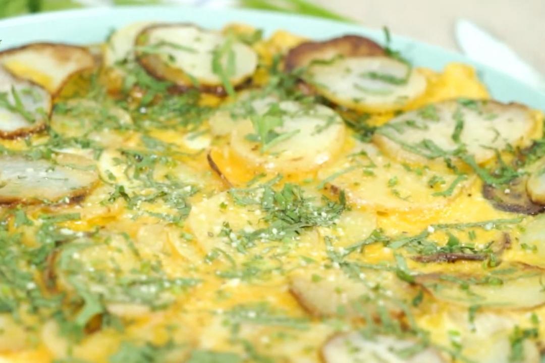 「馬鈴薯烘蛋」免烤箱!會煎蛋就會做的減油版更好吃