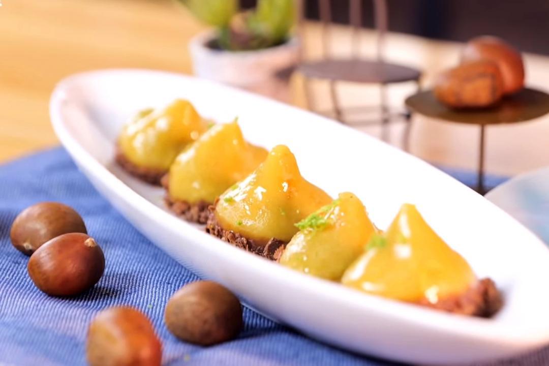 秋季限定甜點「栗子黃金糕」!濃郁地瓜栗泥餡一口滿滿驚喜