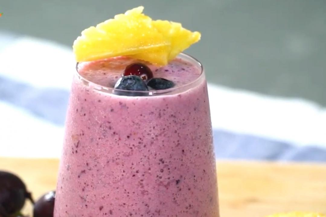 莓果豆奶 | 一次喝到4種水果 養顏美容靠這杯!