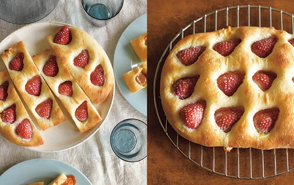 免揉佛卡夏麵包!煉乳草莓口味DIY烘焙超簡單