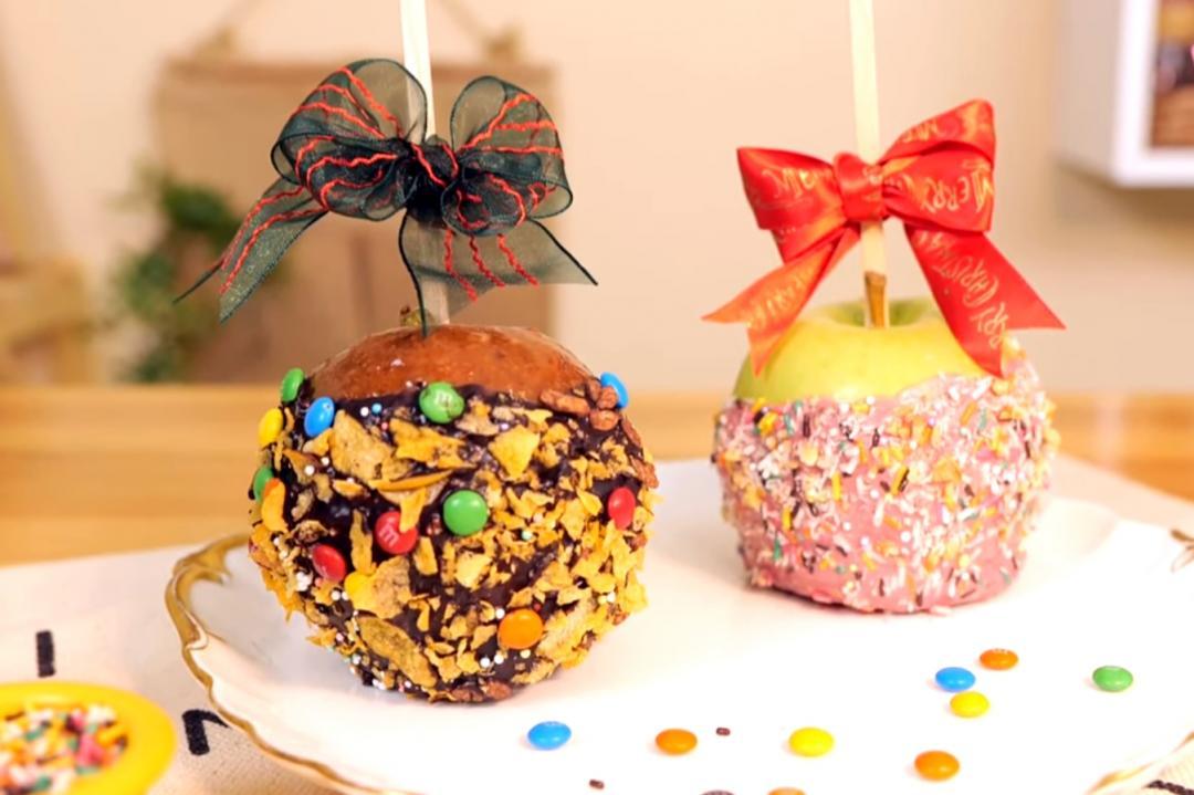 糖葫蘆西洋版「焦糖青蘋果」!巧克力、棉花糖自己DIY美麗糖衣