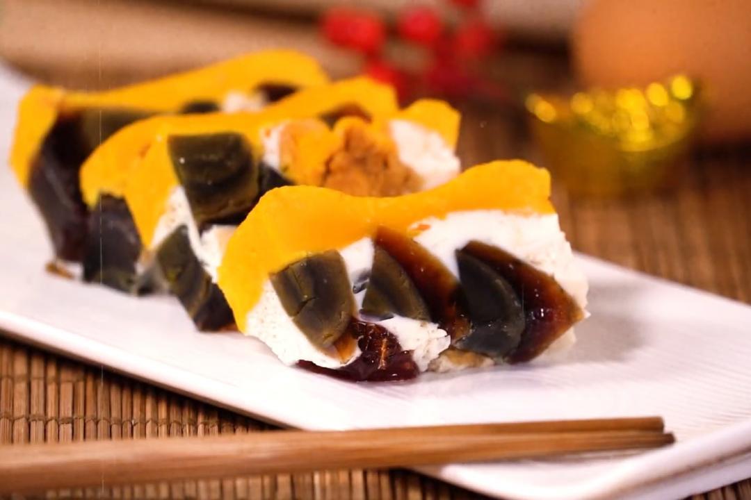三色蛋「蒸」好看又好吃!年節必備宴客冷盤小菜
