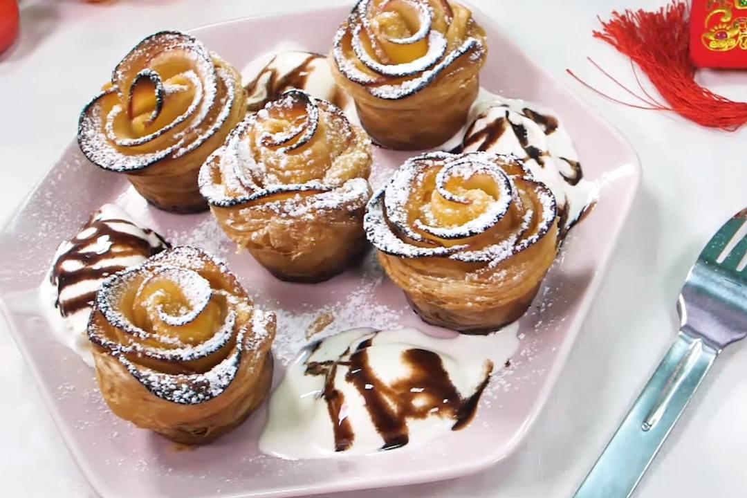 年菜壓軸甜點「花開富貴蘋果派」!脆脆蘋安、甜甜入心