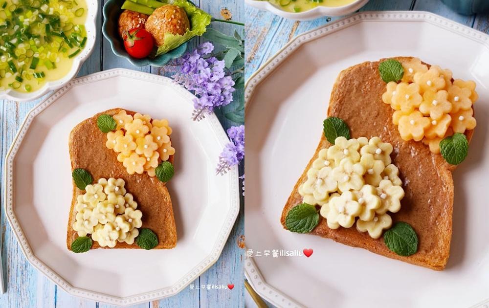 在家防疫賞花!5分鐘做出「繡球花吐司」早午餐療癒味蕾