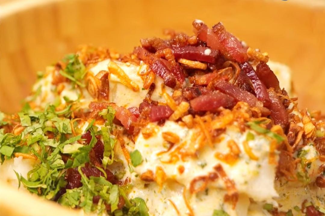 台西合併「馬鈴薯沙拉拌油蔥酥」!優格取代沙拉醬更爽口