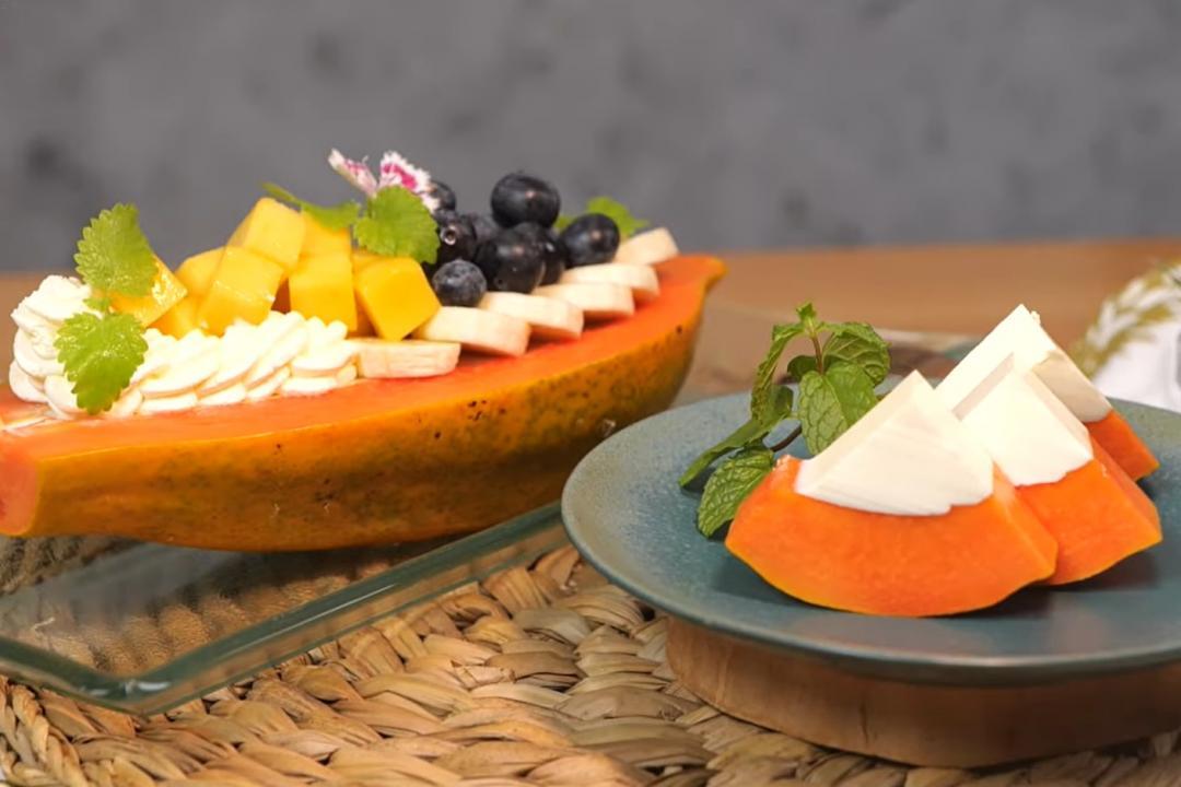 「木瓜船奶酪」混搭雙重口感!滑嫩奶凍×香甜水果超消暑