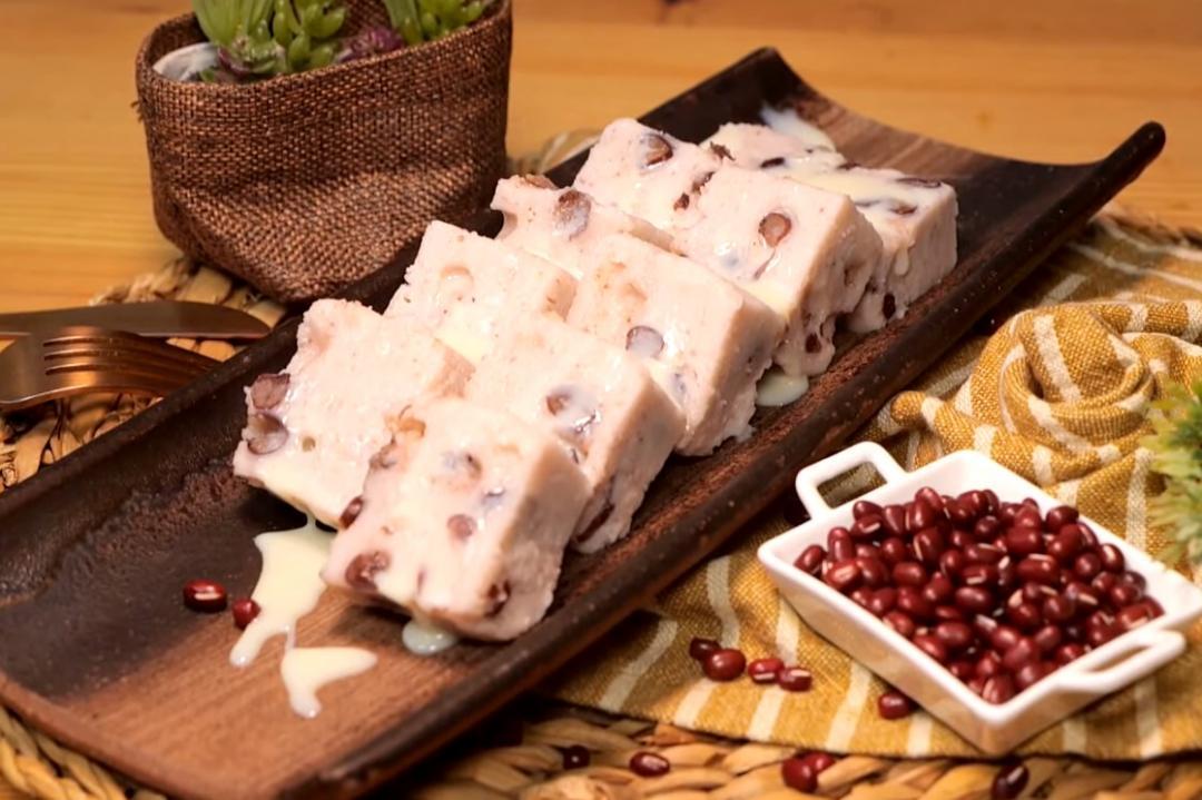 「芋香紅豆鬆糕」冰涼Q綿!飯店級點心用電鍋就能做