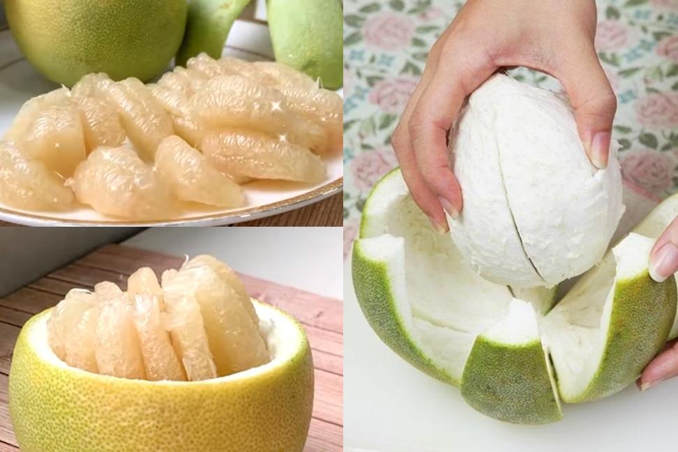 柚子帽、柚子盅3招快速剝法!「不沾苦味」輕鬆取下完整果皮果肉