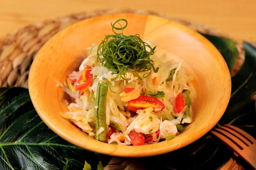 「泰式涼拌青木瓜」改良做法更簡單!搭水嫩雞胸肉好好吃