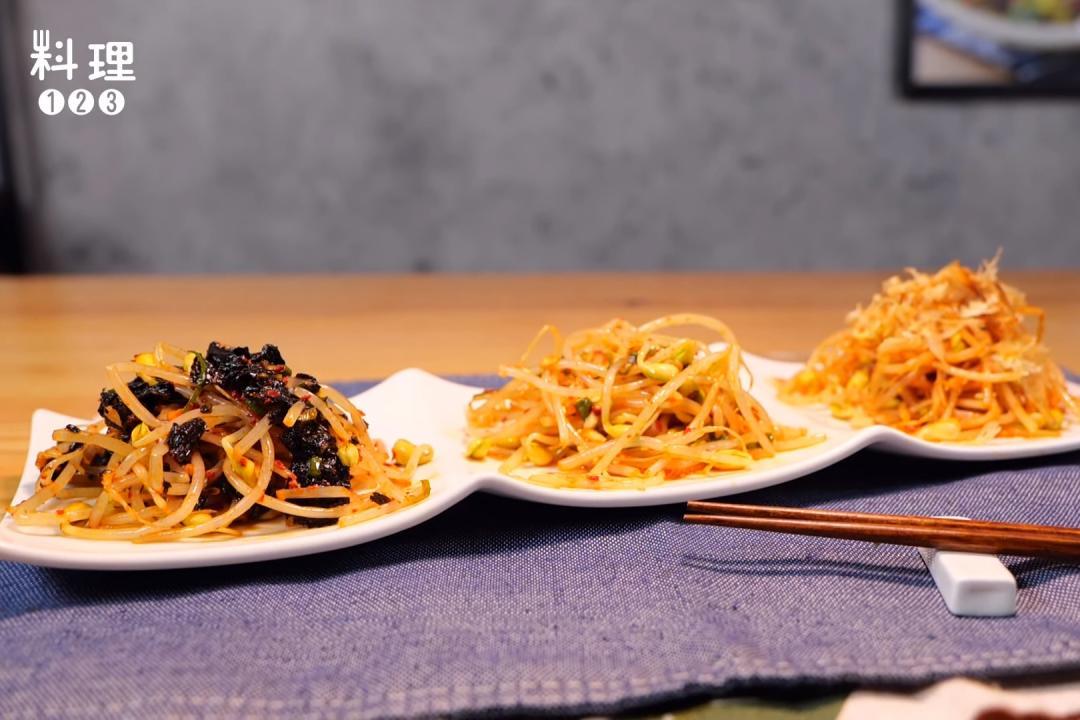 芽菜這樣煮不怕豆腥味!韓式涼拌小菜「黃豆芽三吃」十分鐘上桌