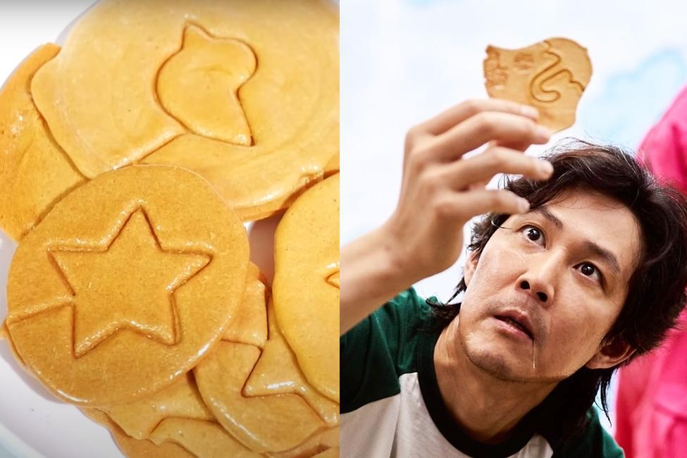 《魷魚遊戲》椪糖關卡在家挑戰!只要 2 樣食材DIY迷因梗圖