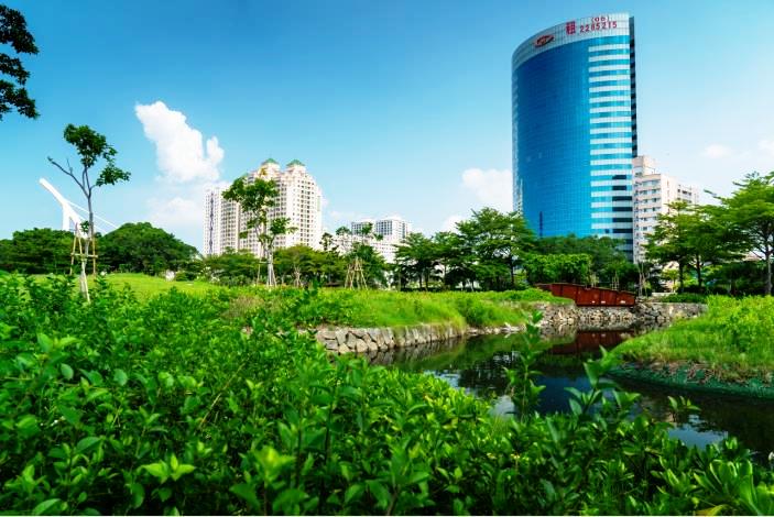 台南發展綠色健康城市 運河星鑽公園美景引建商推案