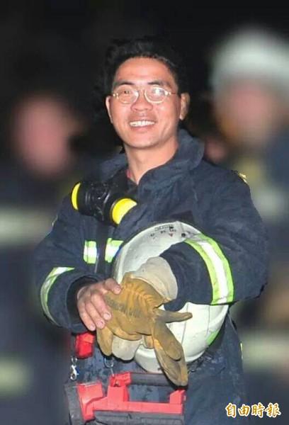 在石化氣爆中受重傷的義消陶廷舟,凌晨不治。(記者王榮祥攝)