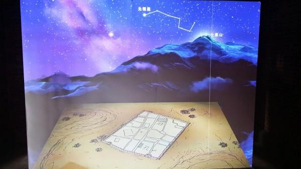 洪致文質疑,台北建城130年展,把北斗七星與北極星的示意圖徹底搞錯,那座七星山也不像七星山。(洪致文部落格)