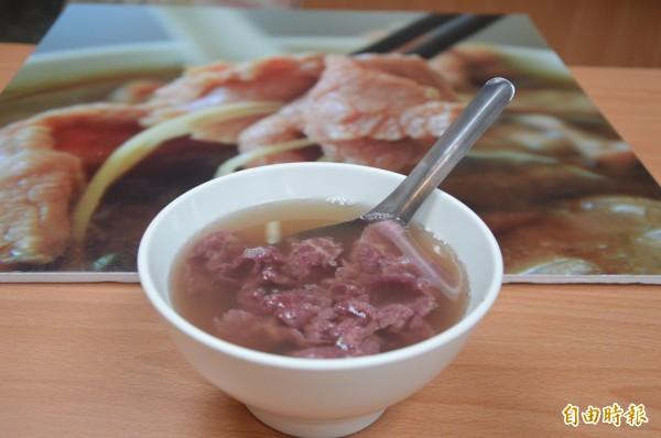 今年台南美食節主題一之清燙牛肉湯。(記者洪瑞琴攝)