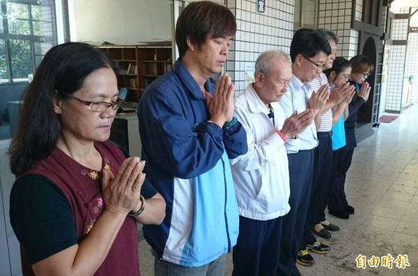 校方表示目前正積極籌劃相關儀式,希望完成水谷雪奶奶的遺願。(記者邱芷柔攝)