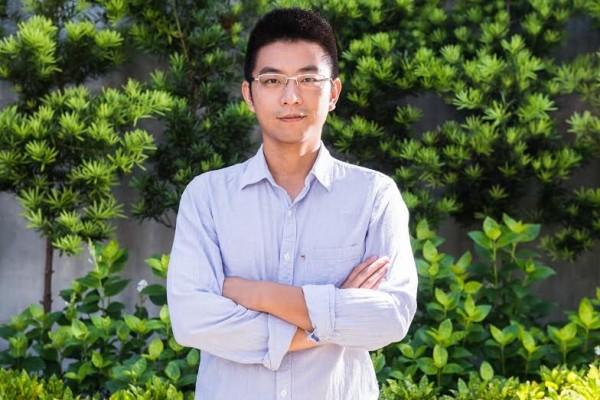 當選新竹縣議員的周江杰。(圖:綠黨提供)