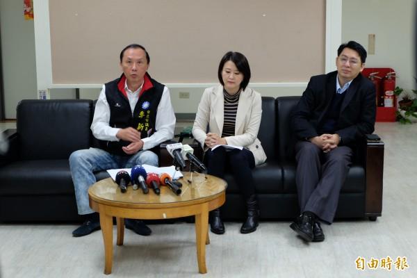 李新宣布參選國民黨黨主席。(記者盧姮倩攝)