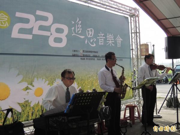 全國唯一228紀念廟,虎尾埒內三姓公廟以音樂會追思228受難者。(記者廖淑玲攝)