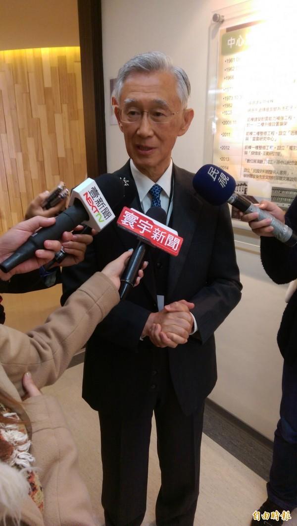 前監察院長陳履安說,對父親的印象就是嚴以律己,在家從不大聲講話,以身作則的態度和政治家風格,更是一種典範。(記者蔡穎攝)