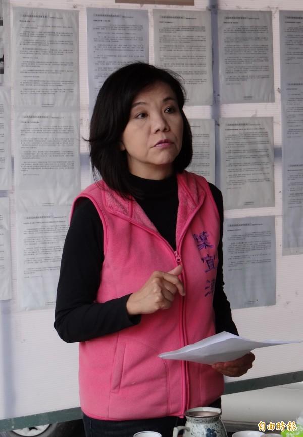 葉宜津今指控賴惠員向選民電話拜票錄音中有市長賴清德的推薦,是「作弊、移花接木」的行為。(記者楊金城攝)