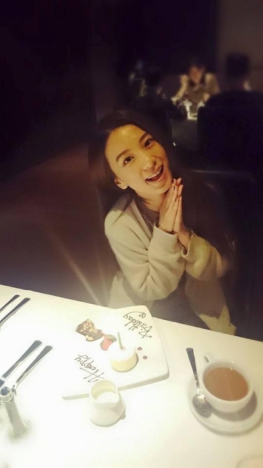 田馥甄生日收到許多祝福。(取自臉書)