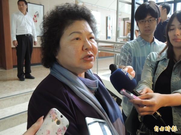 高雄市長陳菊認為,兩岸問題應該朝異中求同方向前進。(記者王榮祥攝)