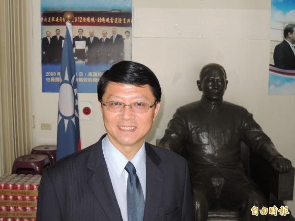 國民黨南市黨部主委謝龍介坦承台南雖是國民黨艱困選區,但對立委參選人仍積極覓才,會提出讓人耳目一新的人選名單。(記者王俊忠攝)