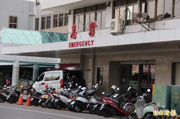二林基督教醫院,傳出急診室暴力事件。(記者陳冠備攝)