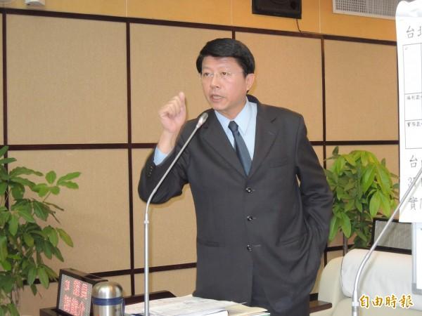 市議員謝龍介決定不質詢,批賴清德根本不配接受他的質詢。(資料照,記者蔡文居攝)