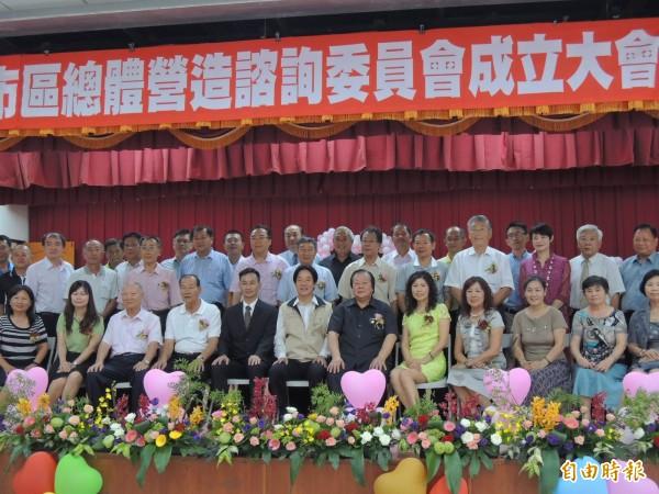 諮詢委員成立大會,台南市長賴清德親臨現場,感謝委員們對地方的付出與協助。(記者林孟婷攝)