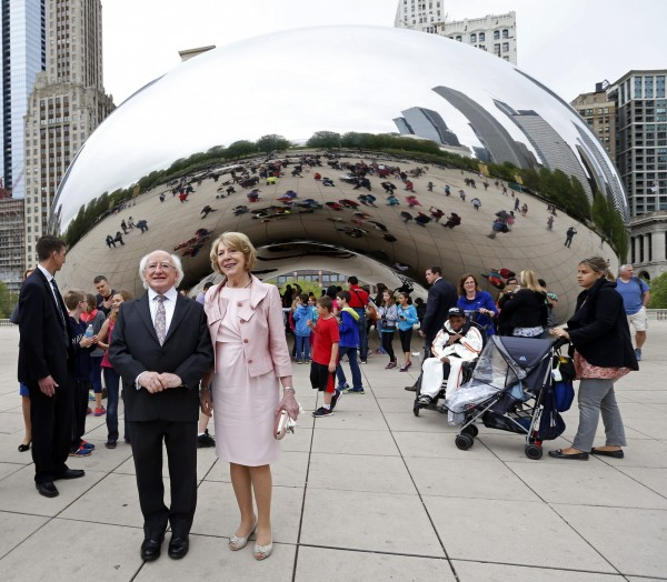 美國芝加哥的雲門。(歐新社)
