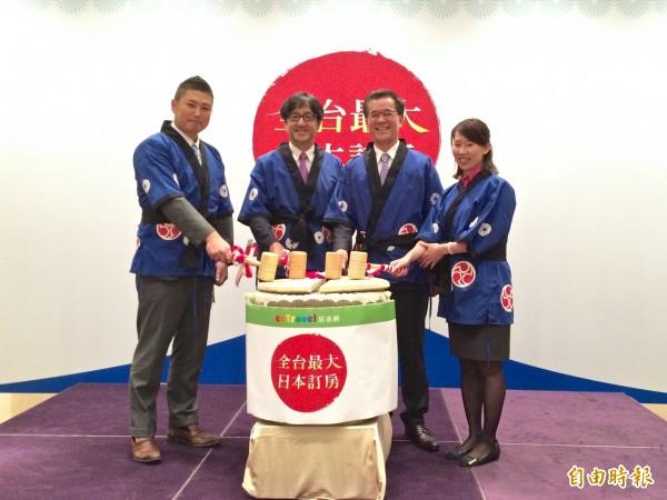 易遊網與日本JTB策略聯盟推出號稱「全台最大日本訂房」的線上訂房平台。(記者莊士賢攝)