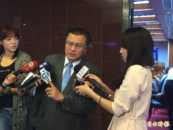 孔文吉表示,文化部最不懂得配合立委。(記者蘇芳禾攝)