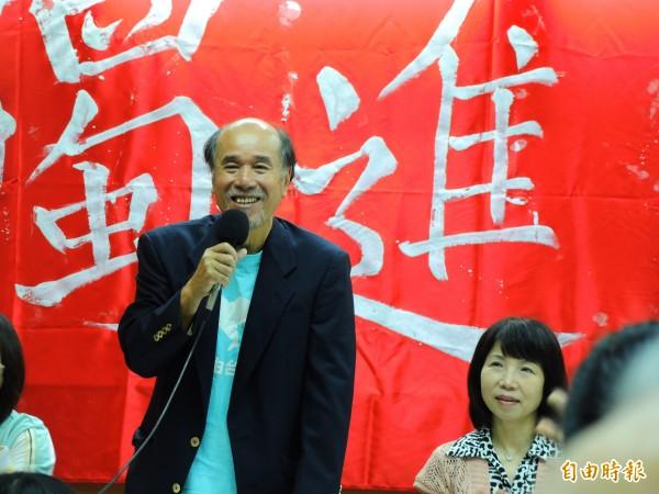 自由台灣黨黨主席蔡丁貴。(記者林良昇攝)