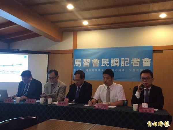 兩岸政策協會今天召開記者會公布最新民調。(記者蘇芳禾攝)