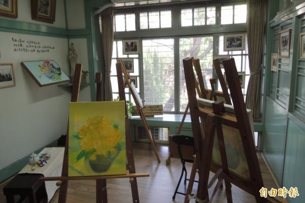 郭柏川的畫室。(記者劉婉君攝)