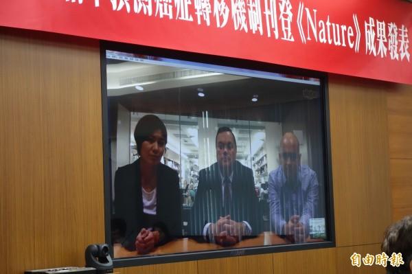 台灣大學與美國康乃爾醫學院組成國際研究團隊,成功找出癌症轉移的分子機制。(記者吳柏軒攝)