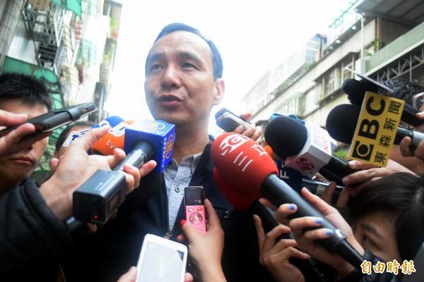 國民黨總統候選人朱立倫。(記者陳韋宗攝)