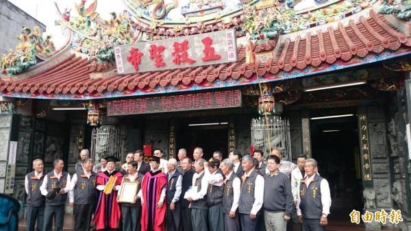 地方稱為五穀王廟的民雄鄉穀豐宮已有300多年歷史。(記者余雪蘭攝)