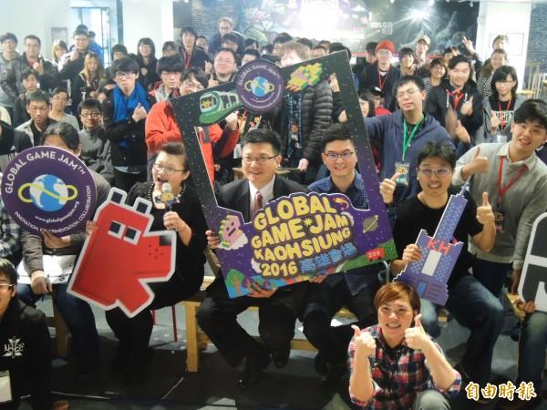 「Global Game Jam全球遊戲創作營」高雄場。(記者葛祐豪攝)