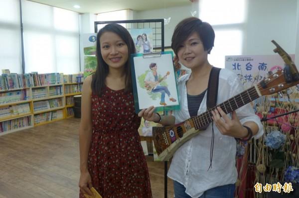 家扶自立青年黃雅玲(左),堅持夢想,鼓勵其它家扶生。(記者楊金城翻攝)(記者楊金城攝)