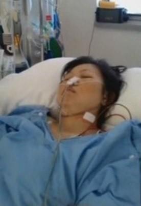 許淑苓赴澳洲打工卻突然染病住院治療。(記者洪定宏翻攝)