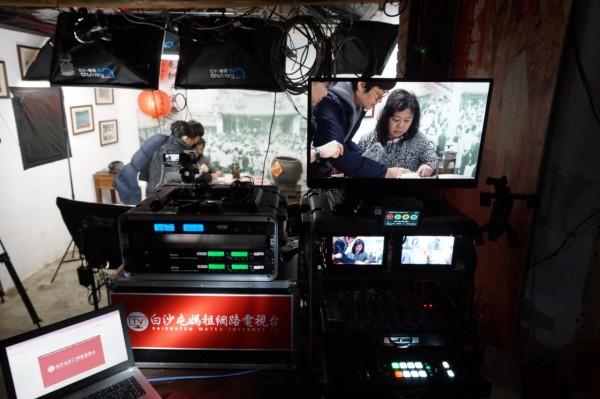 白沙屯媽祖網路電視台今晚八點首播,將成常態性節目。(記者蔡政岷翻攝)