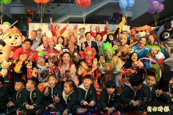 台中4月「玩劇總動員」,29場表演讓兒童免費看。(記者蘇孟娟攝)