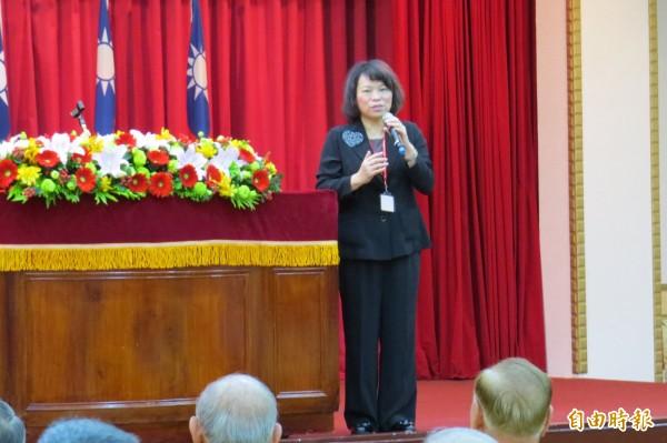 國民黨代理主席黃敏惠出席中華戰略學會大會。(記者陳鈺馥攝)
