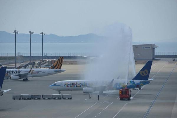 華信航空今首航日本名古屋。(華信航空提供)
