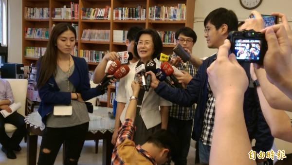 法務部長羅瑩雪指執行死刑沒有時間表。(記者項程鎮攝)