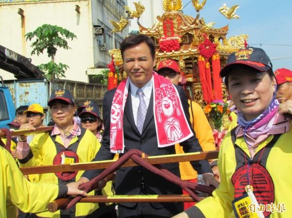 林瑞陽在中國的事業做得有聲有色,他感謝媽祖保祐。(記者歐素美攝)